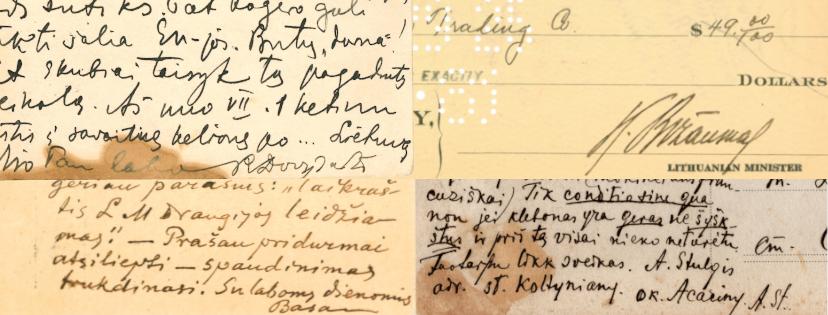 """Paroda """"Vasario 16-osios Akto Signatarų autografai profesoriaus Liudo Mažylio kolekcijoje"""""""