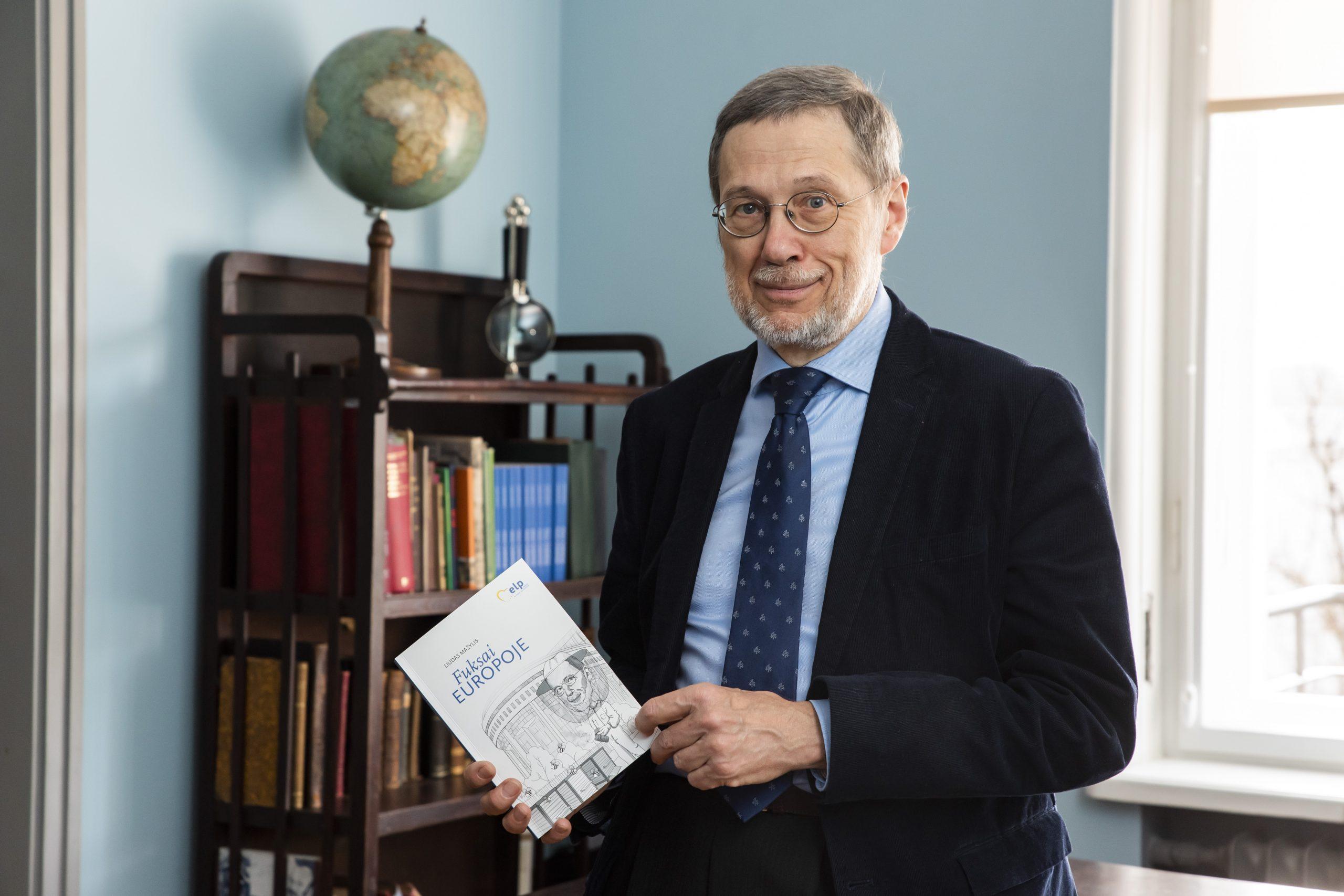 L. Mažylis pristato knygą. J. Petronio nuotr.