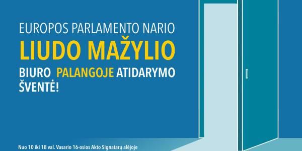 Europos Parlamento narys Liudas Mažylis atidarys biurą Palangoje